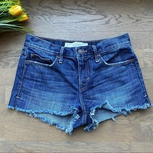 Abercrombie and Fitch jean distress shorts, 25